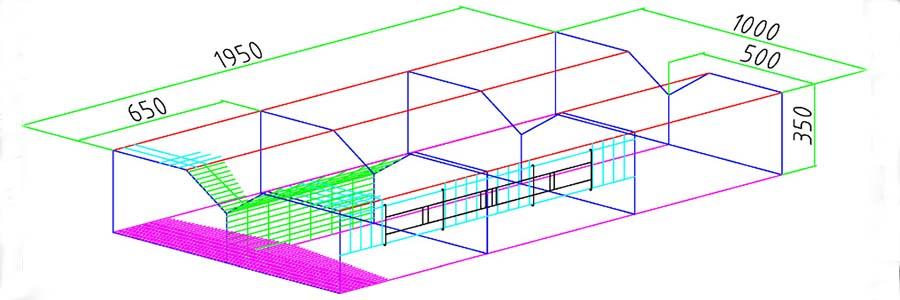Изображение двухсторонней тип A клетки для цыплят